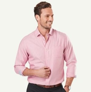 Pink Mens Size XL Classic Fit Dress Shirt